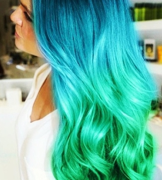 Blue and green ombré hair!!!  Ombre Hair Blue And Green
