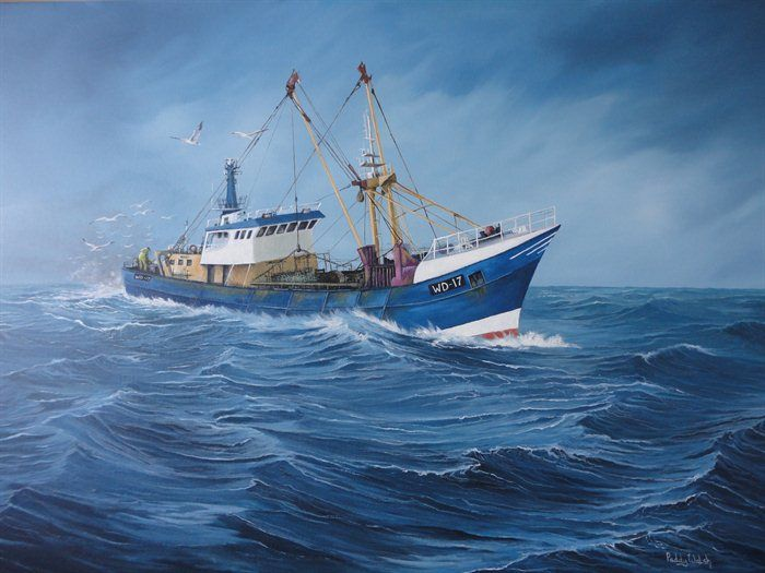 Fishing 700 525 yellowfin pinterest for Fishing boat painting