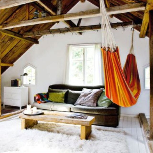 Hammock in livingroom for Living room hammock