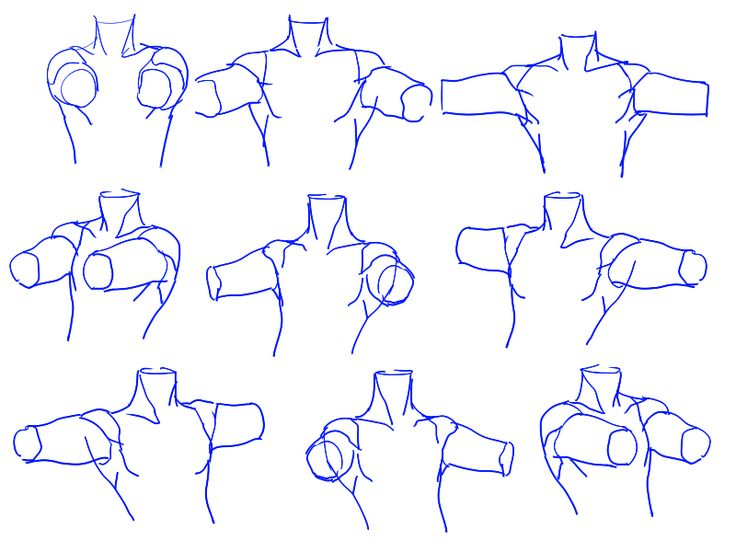 how to draw shoulders anime