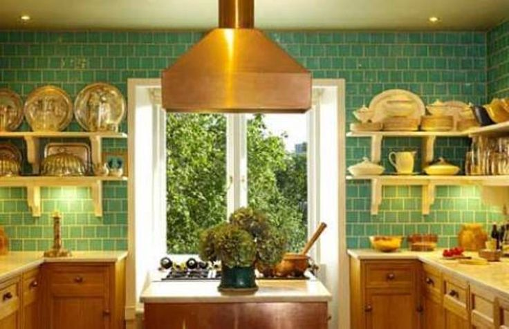Light green kitchen tiles ceramic wall for Light green kitchen walls