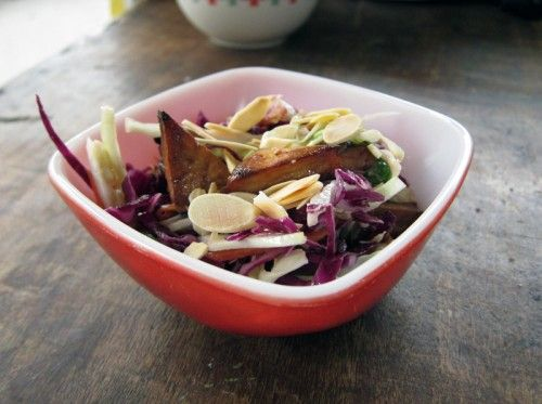 Chopped miso slaw with tofu | Main dishes | Pinterest