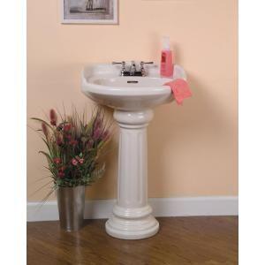 Pegasus Pedestal Sink : Pegasus Vicki 22 in. Pedestal Lavatory Sink Combo in White-3-654WH at ...