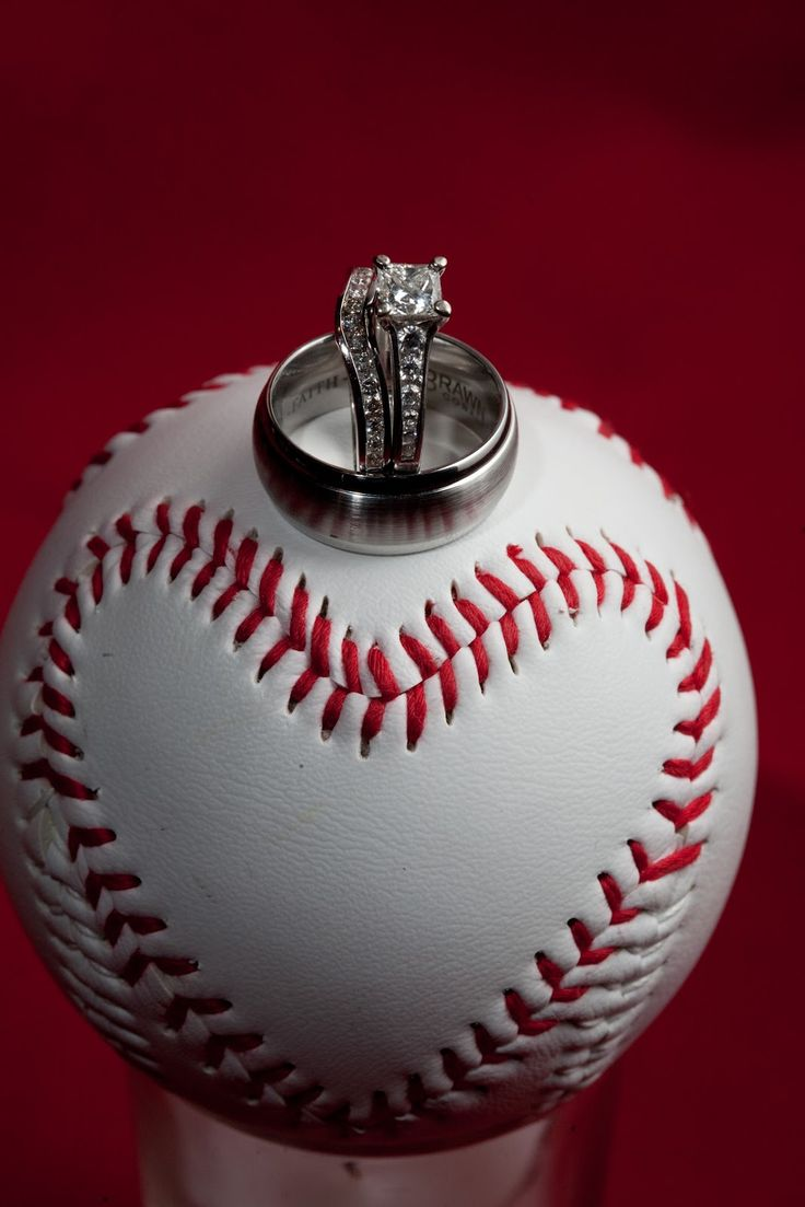 Play The Game With Heart Baseball Wedding Ring Photo Love This