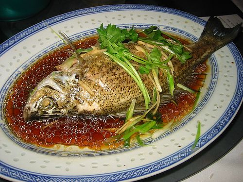 Steam fish in soy sauce chinese style asian kitchen for Soy sauce fish