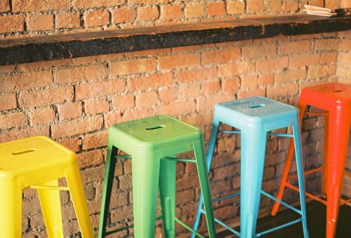 Colorful bar stools for the home pinterest - Bright colored bar stools ...