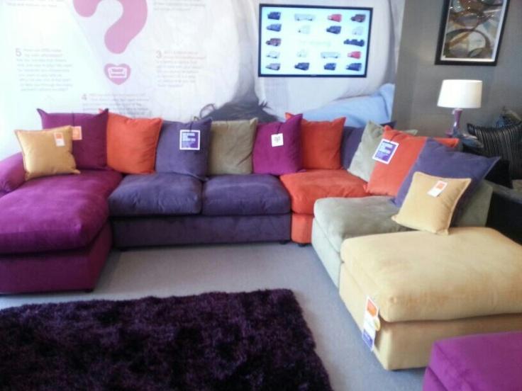 Multi Coloured Corner Sofa House Ideas Pinterest