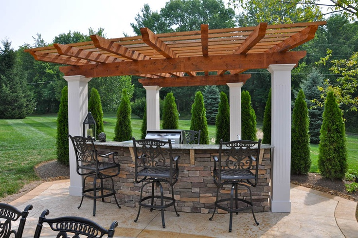 outdoor bar and grill pool house pinterest