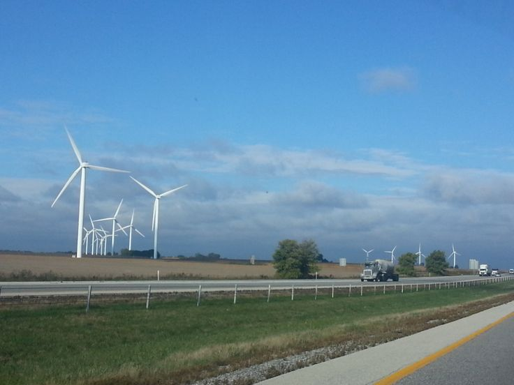 Wind farm in Illinois. | Wind Power | Pinterest