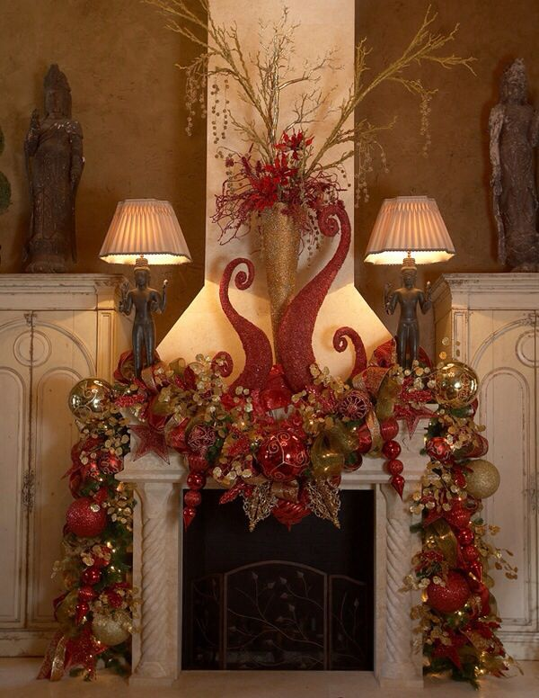 Mantle Christmas Wreaths Swags Pinterest