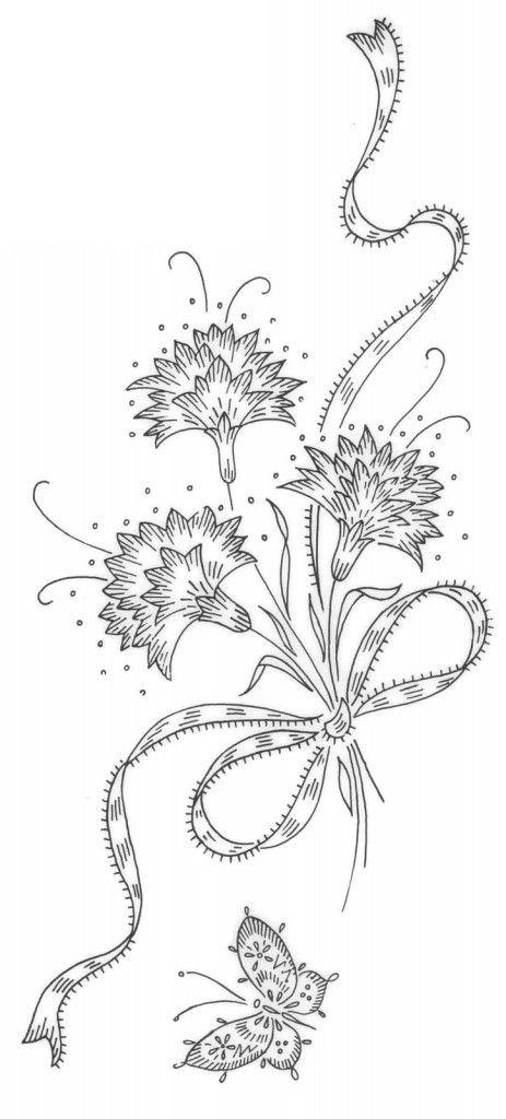 Цветок. рисунок для вышивки 542