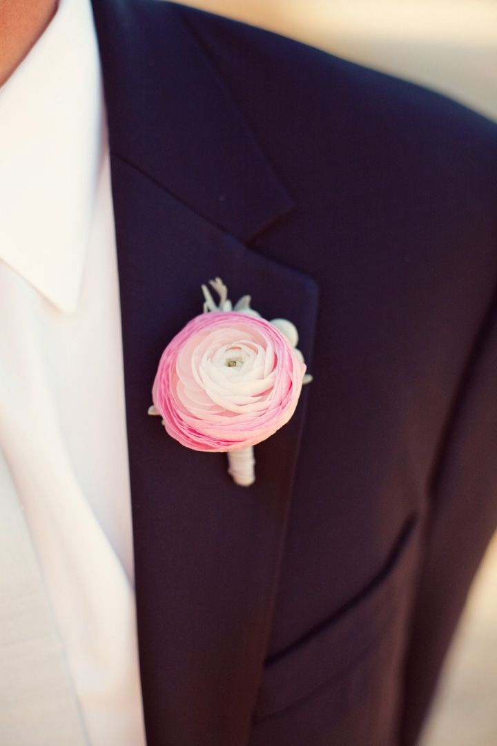 Hot pink and white wedding