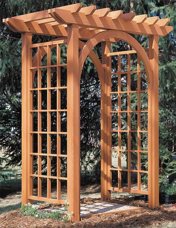 Arbor plan take a closer look arche wedding pinterest for Garden trellis plans
