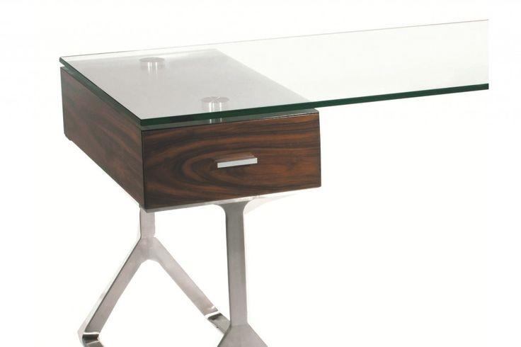 glassdesktop | Glass Office Desk | Pinterest