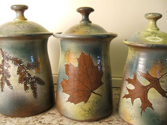 canister set lidded jars kitchen canisters with tree