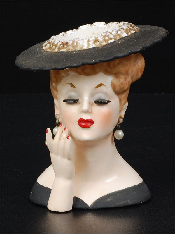 Napco Lady Head Vase