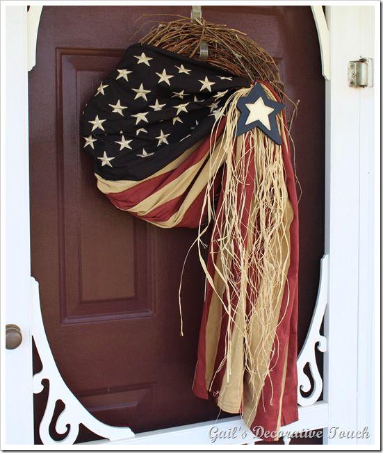 Patriotic door decor 4th of July