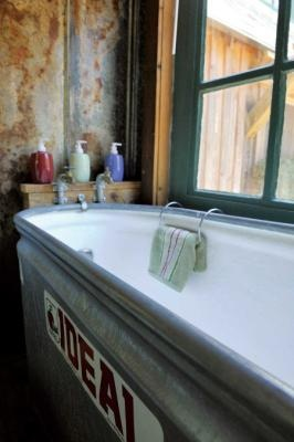 Fiberglass lined stock tank- This is my tub!!