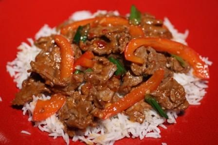 Diva Entertains Spicy Beef with Peppers | Guilty Oriental | Pinterest