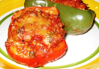 dad s stuffed bell peppers recipe simplyrecipes com dad s stuffed bell ...