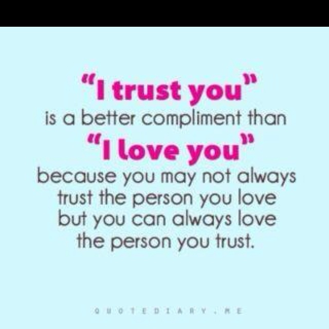 trust vs love just a thought pinterest