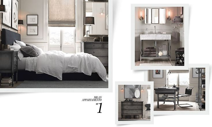 Small rooms restoration hardware - Small spaces restoration hardware set ...