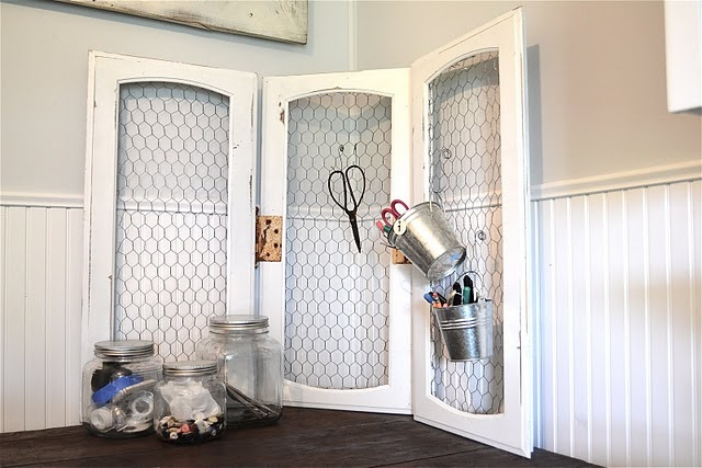 Use Old Cabinet Doors Insert Chicken Wire Could Be Good