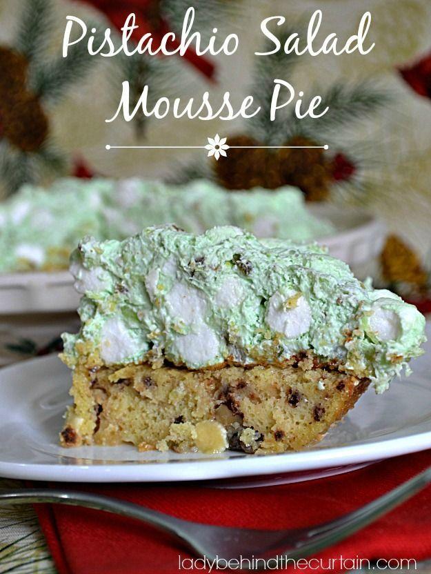 Pistachio Salad Mousse Pie - Lady Behind The Curtain #shop