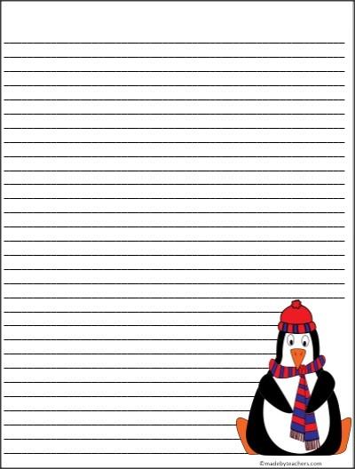 Free Colorful Penguin Writing Template | Teacher Stuff | Pinterest