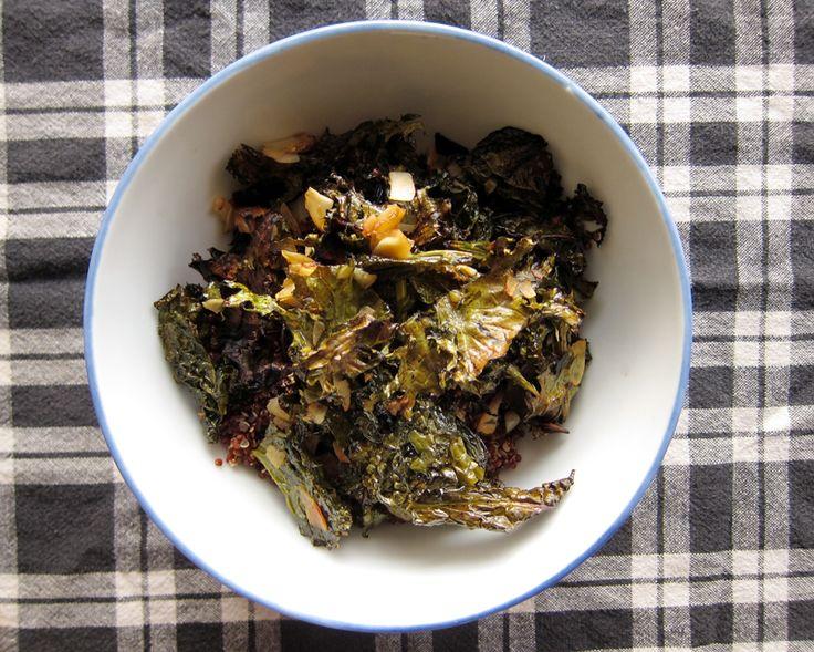 crispy kale salad with toasted coconut | Salads | Pinterest