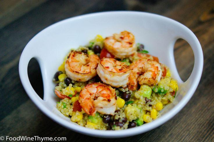 Quinoa & beans with warm shrimp | Yummy Goodies | Pinterest
