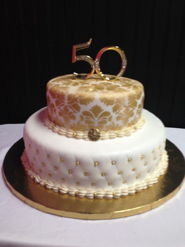 50th Wedding Anniversary Cake | Wedding anniversary cakes, Wedding ...