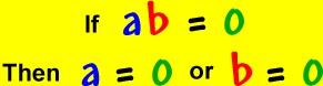 The zero product property   Common Core Math   Pinterest