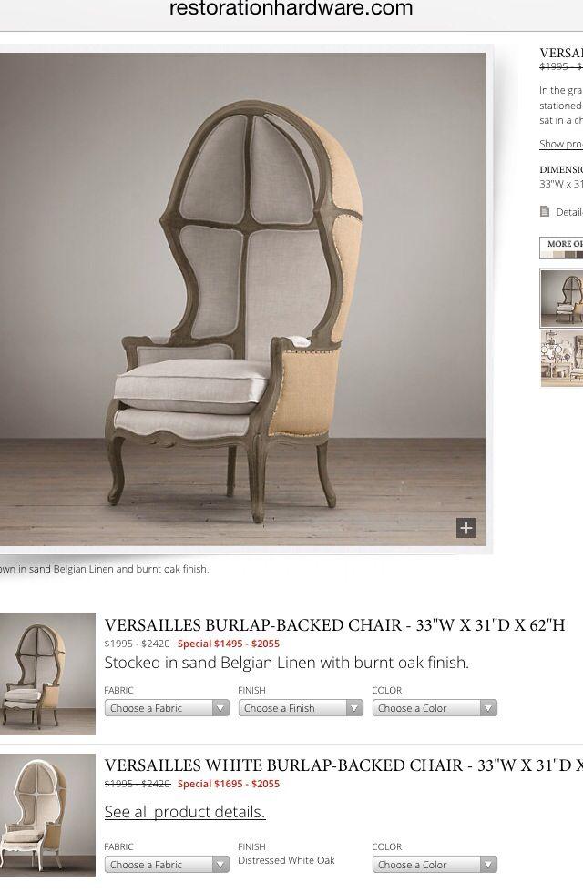 Restoration hardware versailles chair dream home pinterest