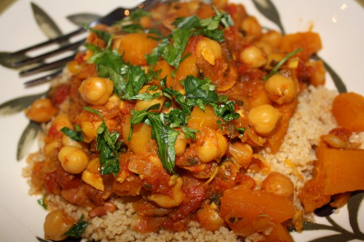 Butternut Squash and Chickpea Tagine. Ingredients: Chickpeas, diced ...