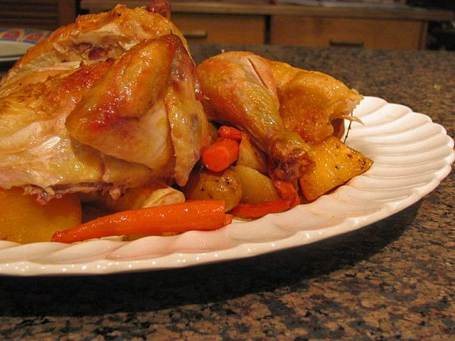 ... classic roast chicken recipe myrecipes com classic roast chicken