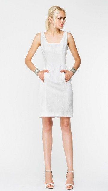 Yoana Baraschi Saint Tropez Denim Body Dress in White 11D84