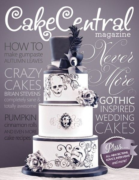 Gothic Wedding Issue Favorites - Editors' Picks - Cake Central.  We get this mag electronically.