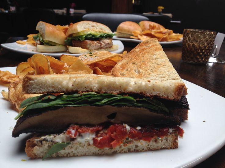 Grilled Portabella Sandwiches With Tomatoes, Mozzarella & Basil Recipe ...