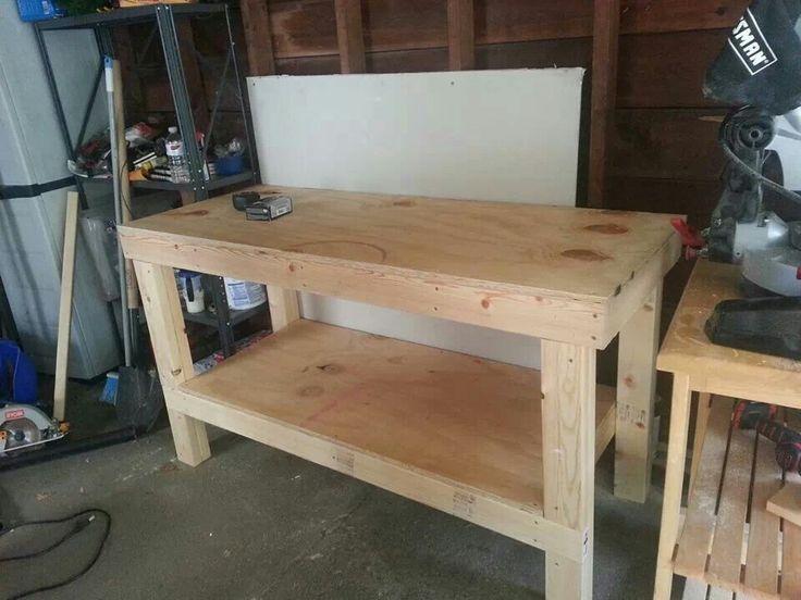 Jobsite Blueprint Table DIY Workbench via Ana White's Plans...thanks Rich! http://ana-white ...