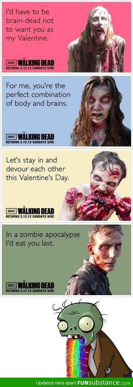valentine's day walking dead ecards