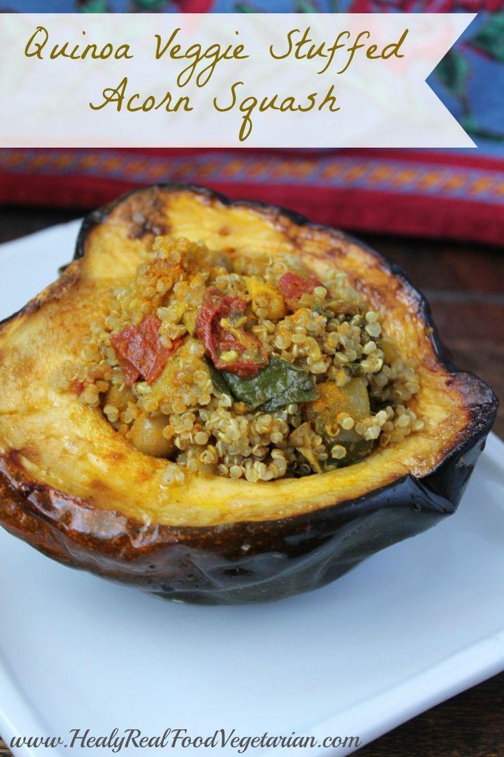 Quinoa Veggie Stuffed Acorn Squash (vegan) - Healy Real Food ...