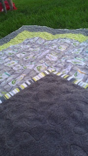 baby blanket with cuddle fabric on the back...so cuddly