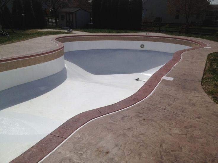 Concrete Pool Coping Inground Swimming Pool Repair Renovation And Vinyl Liner Replacement