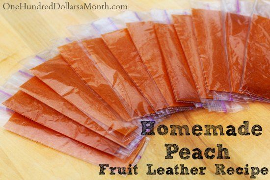 Homemade Fruit Leather Recipe – Peach | Good Food: Fruit | Pinterest
