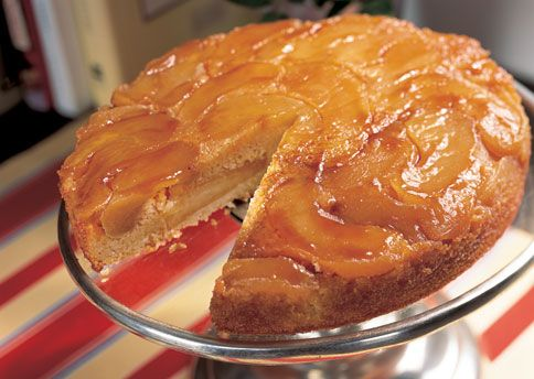 Warm Apple-Cornmeal Upside-Down Cake: Recipe: bonappetit.com