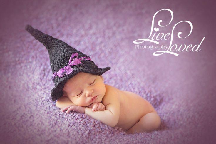 Newborn Crochet Witch Hat Pattern : PDF CROCHET PATTERN 052 - Witch hat - Multiple sizes from ...