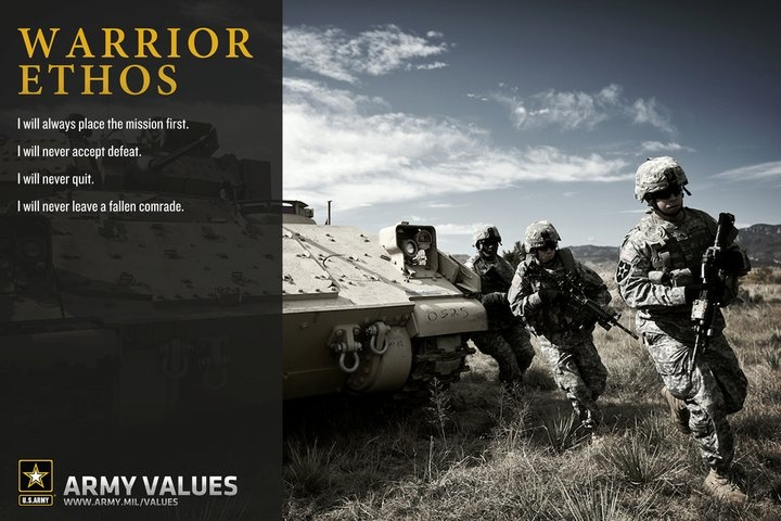 warrior ethos The 19th-century british army officer william francis butler tells us that a nation that makes a great distinction between its scholars and its warriors will have its laws made by cowards and its wars fought by fools.