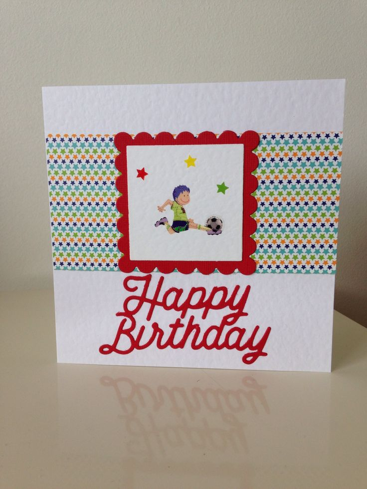 pinterest handmade birthday football cards | just b.CAUSE