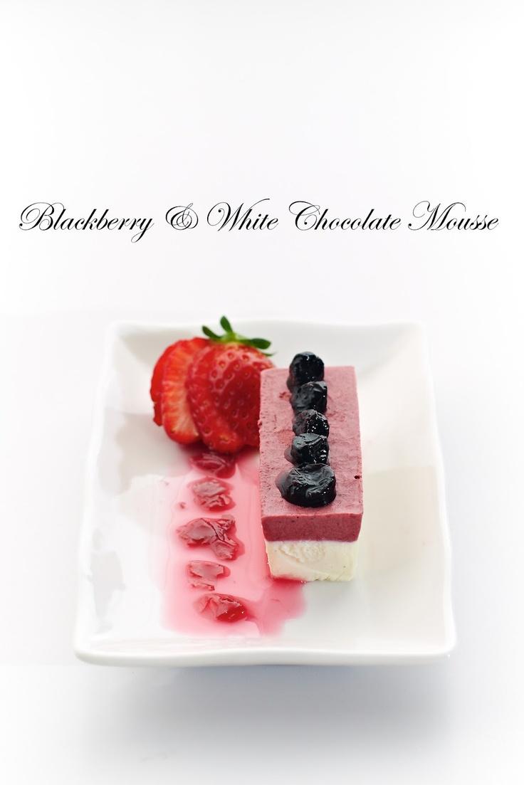 Blackberry & White Chocolate Mousse | ~~Mousse~~ | Pinterest